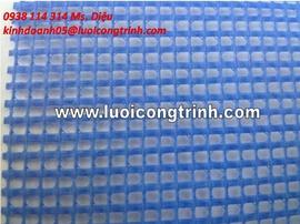 Lưới ô vuông PVC may viền bấm khuy