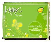 Băng vệ sinh Kotex hương tự nhiên kháng khuẩn hàng ngày độc đáo mới
