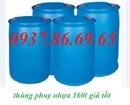 Tp. Hà Nội: thùng phuy, thùng phuy sắt cũ 220lit, thùng phuy nắp nhỏ 4 đai giá rẻ CL1636479