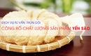 Tp. Hồ Chí Minh: Công Bố Chất Lượng Sản Phẩm Yến Sào CL1657509