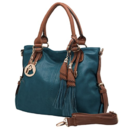 Tp. Hồ Chí Minh: MG Collection THALIA Top Handle Tassel Decor Dark Teal Tote Purse / Shoulderbag CL1649144