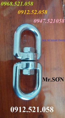 Ma ní nối xoay bán Hà Nội 0912.521.058 bán cáp Inox 304, Xích Inox 304