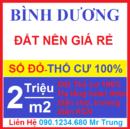 Tp. Hồ Chí Minh: Bán Đất nền gần Chợ , Trường học mới nỗi Bình Dương CL1697673