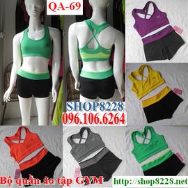 Bộ quần áo tập GYM yoga aerobic thể thao nữ mẫu QA 69 ! 0961066264