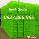Tp. Hải Phòng: rổ nhựa đan giá rẻ, thùng nhựa rỗng bánh xe hs015, sóng nhựa hở CL1648649