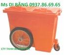 Bắc Giang: thùng rác treo đôi 80lit, thùng rác bánh xe 600l, xe đẩy rác bằng tay giá tốt RSCL1647290