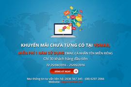 Khuyến mãi đăng kí email cá nhân miễn phí 1 năm sử dụng