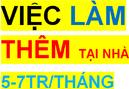 Tp. Hồ Chí Minh: Việc làm thêm tại nhà lương cao được nhận lương hàng tuần . CL1623358