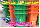Tp. Hà Nội: Thùng rác 120 lít và 240 lít nhựa HĐPE màu xanh, thùng đựng rác giá rẻ CL1653510P3