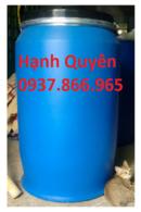 Bắc Giang: thùng chứa hóa chất 220lit, thùng sắt 220l, thùng nhựa giá rẻ CL1653460