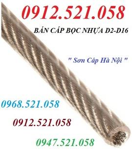 Bán dây cáp Inox 304 bọc nhựa Phi 5 hà nội 0947.521.058 khoá cáp Inox