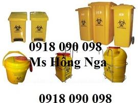 chuyên bán thùng chứa rác y tế, thung rac y te, thùng rác y tế 240 lít