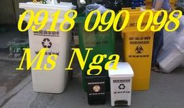 chuyên phân phối thùng đựng rác y tế, thùng rác y tế đạp chân 120 lít