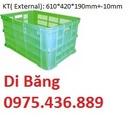 Vĩnh Phúc: hộp nhựa công nghiệp b9, thùng nhựa đặc b5, rổ nhựa bánh xe c3, sóng nhựa đan hs015 CL1659985P9
