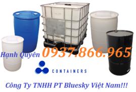 thùng phuy trữ nước 220lit, téc nhựa 1 khối, .can nhựa 20l giá rẻ