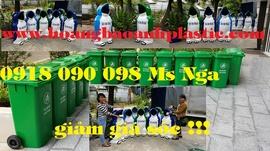 bán thùng rác y tế đạp chân 60 lít, xe rác 660 lít , 1000 lít, thùng rác hình co
