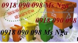 bán thùng rác y tế, thùng chứa rác y tế, xe thu gom rác , xe rác 660 lít giá rẻ