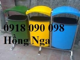 bán thùng rác composite, thùng rác cọc 55 lít, thùng rác treo ,thùng rác cố định