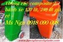 Bình Dương: thùng đựng rác nhựa HDPE, thùng rác 120 lít, 240 lít, 660 lít, thùng rác cá heo CL1663426