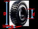 Tp. Hà Nội: Lốp đặc chất lượng, bánh xe nâng hiệu Pio, sản xuất Thái Lan mới 100% CL1664239