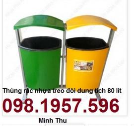 thùng rác công cộng, thùng rác TR 80 lít, thùng rác giá rẻ,