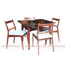 Tp. Hà Nội: Bàn ghế ăn mặt kính vuông - 4 ghế CL1668083