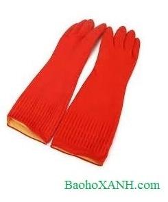 Găng tay cao su chống acid Sài Gòn ngắn