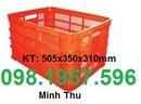 Tp. Hà Nội: thùng nhựa rỗng HS013, thùng nhựa bít, rổ nhựa, sóng nhựa có bánh xe, CL1669981