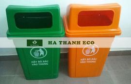 Thùng đựng rác 90 lít nắp hở hdpe cho công nghiệp