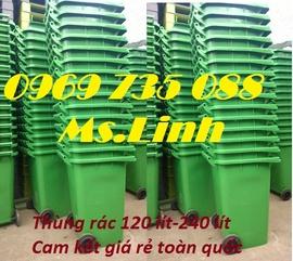 Nhà bán sỉ-lẻ, PP thùng rác nhựa 50L, 60L, 120L, 240L, 660L, 1000L, 1100L giá rẻ TPHCM