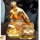 Tp. Hà Nội: Tượng đồng Bác Hồ ngồi đọc báo mạ vàng cao 25cm CL1356181