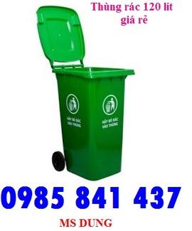 Thùng rác công nghiệp 120 lít- giảm giá cực sốc (lh 0985 841 437)