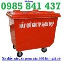 Đăk Lăk: Xe đẩy rác 660 lít - giá tốt CL1676019P5
