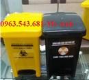 An Giang: thùng đựng rác thải nguy hại, thùng đựng rác y tế đạp chân màu vàng, xanh, trắng CL1677927