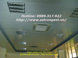 Thi công trần nhà phòng họp, Trần nhôm Astrongest, Trần thạch cao