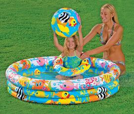 Bể Bơi 3 Chi Tiết đại dương xanh, kèm phao, bóng xả kho cực rẻ