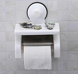 Giá treo giấy vệ sinh trong phòng tắm hút chân không siêu rẻ 90K, dính cực chắc