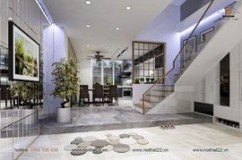 Thiết kế nội thất nhà phố đẹp lung linh