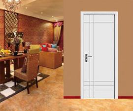 phòng ngủ với cửa HDF