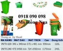 Tp. Hồ Chí Minh: phân phối sỉ , lẻ thùng đựng rác , xe thu gom rác , thùng chứa rác composite rẻ CL1677296