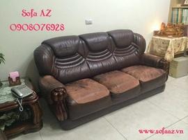 Bọc lại ghế sofa da bò nhập khẩu Italy tại nhà quận 2