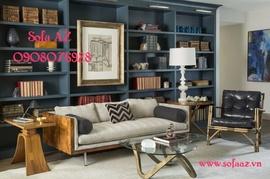Nệm ghế sofa gỗ cao cấp phòng khách tại Bình Thạnh