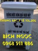 Tp. Hồ Chí Minh: Thùng rác nhựa công nghiệp, thùng rác y tế 15l, thùng rác y tế đạp chân CL1679588P1