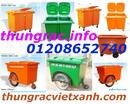 Đồng Tháp: Thùng rác 660L, xe gom rác 660L, xe đẩy rác 660L, thùng rác 660L giá siêu rẻ CL1644646