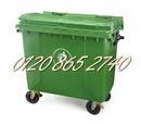 Gia Lai: Bán thùng rác 660L, xe đẩy rác 660L, xe gom rác 660L, thùng rác 660L nhựa HDPE CL1644646