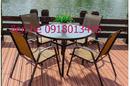 Tp. Hồ Chí Minh: thanh lý gấp bàn ghế tồn kho mây nhựa cà phê CL1680701
