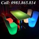 Tp. Hà Nội: Bàn ghế nhựa led, bàn ghế nhựa phát sáng, bàn ghế led, CL1681600