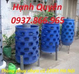 thùng phuy nhựa giá rẻ, thùng phuy sắt 220lit, thùng phuy nhựa 160lit