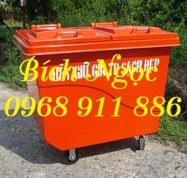 Xe thu gom rác, xe đẩy rác giá rẻ, xe rác omposite giá rẻ tại Quận 12