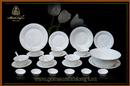 Tp. Hồ Chí Minh: Gốm Sứ Minh Long - Bộ bàn ăn 30sp Tulip nổi chỉ bạch kim 30043TLN (NSX) CL1686205